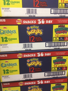 Todays Special Walkers Snacks 36 box (Quavers, Wotsits & Mega Monster Munch)
