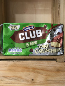 McVitie's Club 5x Mint Cake Crunchies Bars 120g