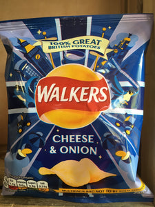 6x Walkers Cheese & Onion Crisps (6x25g)
