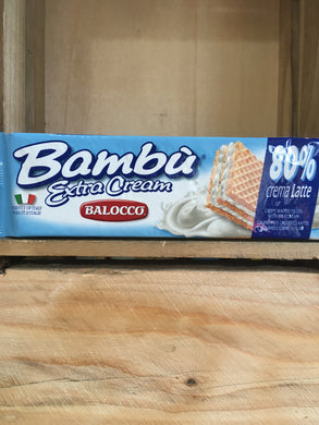 Balocco Bambu Crispy Wafers Filled with Milk Cream 100g