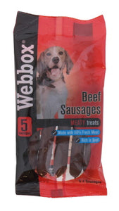 Webbox 5 Beef Sausages Dog Treats