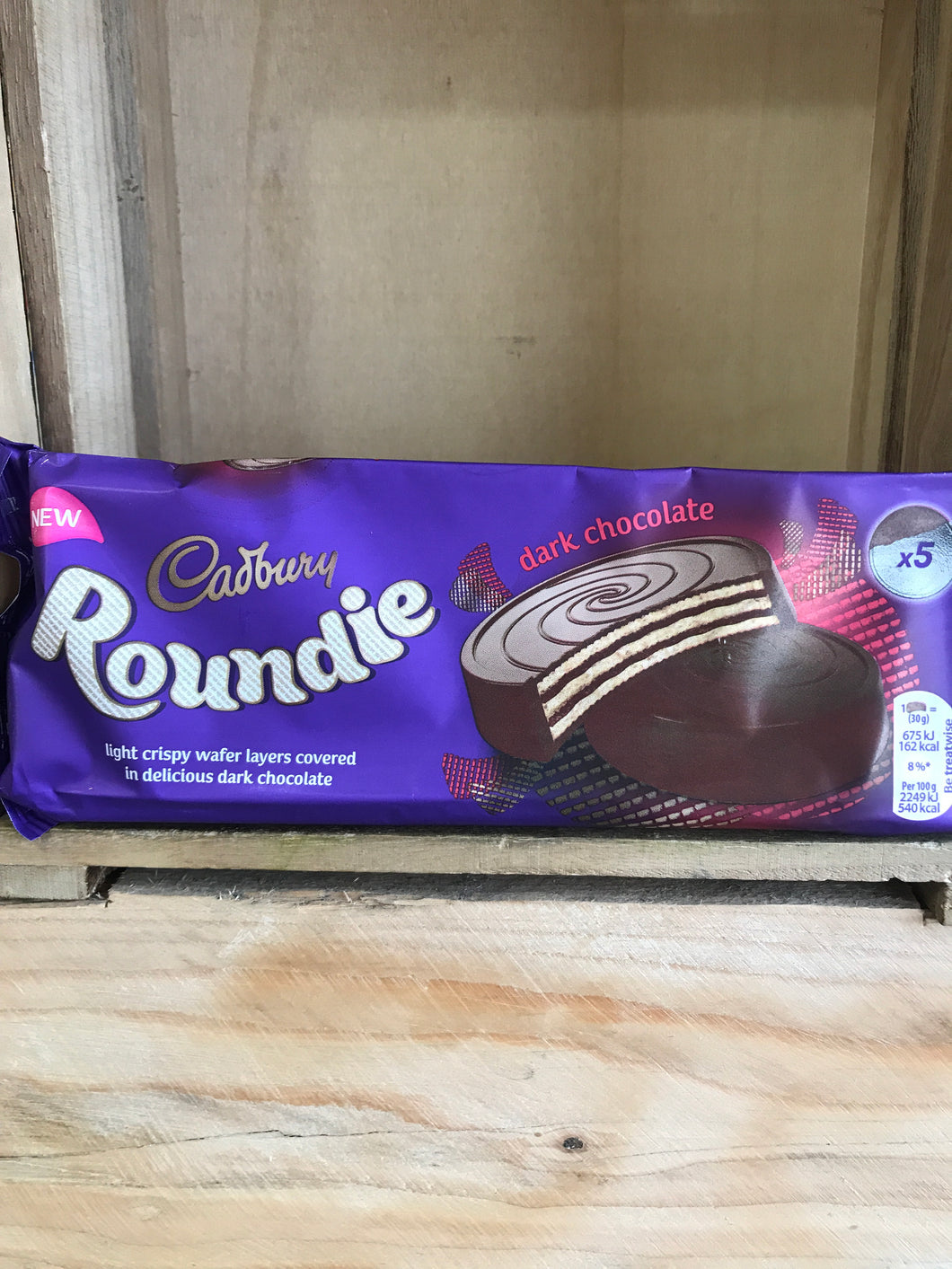 Cadbury Roundie Dark Chocolate Biscuits 5x30g