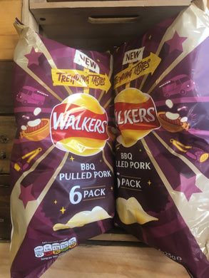 12x Walkers BBQ Pulled Pork Crisp (2x Packs of 6x25g)