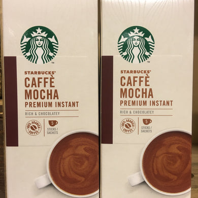 10x Starbucks Caffè Mocha Premium Instant Coffee Sachets (2 Packs of 5x22g)