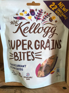 Kellogg Super Grains Bites Blackcurrant & China Seeds 120g