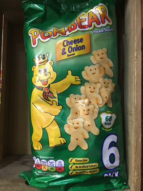 Pom-Bear Cheese & Onion 6 Pack (6x13g)
