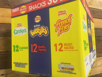 Walkers Snacks Variety Box 36 Bags