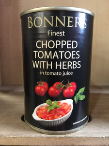 Bonners Finest Chopped Tomatoes With Herbs 400g