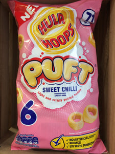 Hula Hoops Puft Sweet Chilli 6 x 15g pack