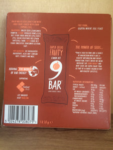 9NINE Super Seeds Carob Top 3x 50g Bars