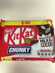 Nestle KitKat Chunky Chocolate Bar 4 Pack 4x 40g