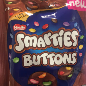 4x Smarties Buttons Milk Chocolate Sharing Bags (4x90g)