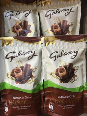 4x Galaxy Hazelnut Creme Wafer Curls (4x90g)