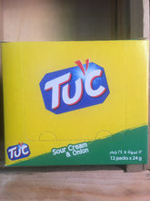 12x Packs of TUC Biscuits Sour Cream & Onion Flavour Snack 6x Biscuit Pack (12x24g)
