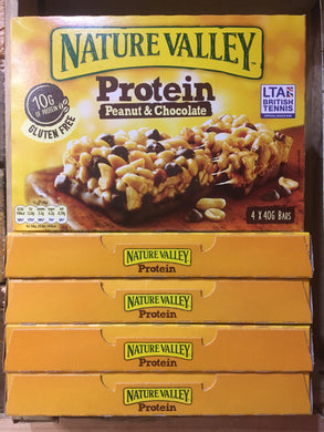20x Nature Valley Protein Peanut & Chocolate Bars (5 Packs of 4 x 40g Bars)