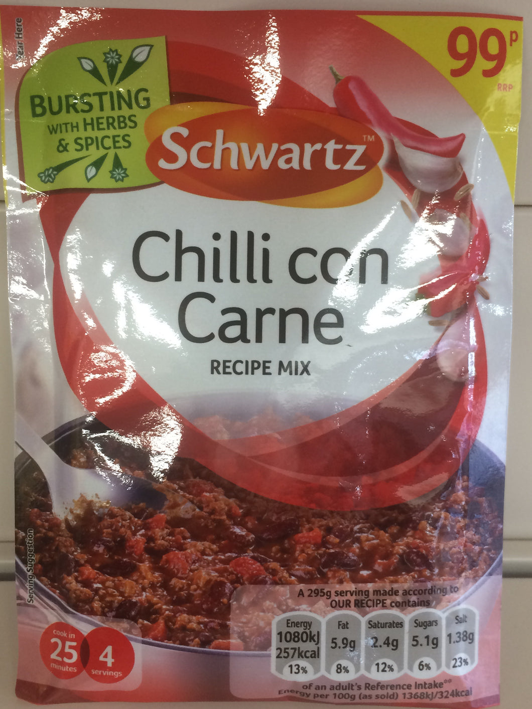 Schwartz Chilli con Carne Recipe Mix 41g