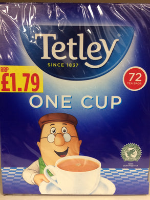 Tetley One Cup Tea Bags 72 Pack