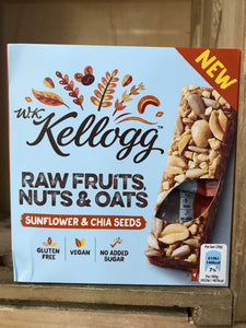 Kellogg Raw Fruits, Nuts & Oats 4 Bars 120g