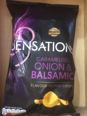 Walkers Sensations Balsamic Vinegar & Onion Crisps 150g