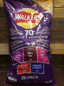 Walkers Flavours of the Decades 20 Pack