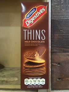 McVities's Digestive Milk Chocolate Thins Biscuits 180g