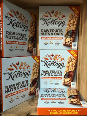 20x Kellogg Raw Fruits, Nuts & Oats 30g Bars (5x4x30g)