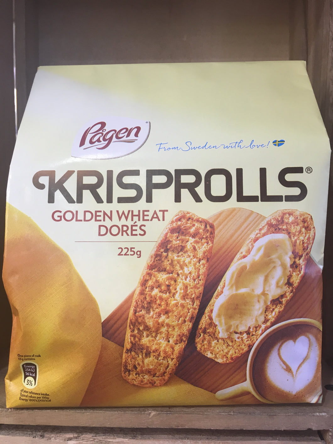 Pagen Golden Krisprolls 225g