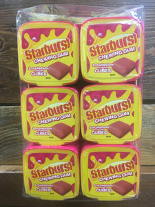 6x Tubs of Starburst Strawberry Gum 30 Cubes