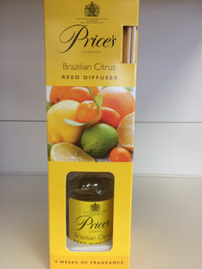 Price's Brazilian Citrus Reed Diffuser 100ml