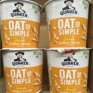 4x Quaker Oat So Simple Golden Syrup Porridge Pots (4x57g)