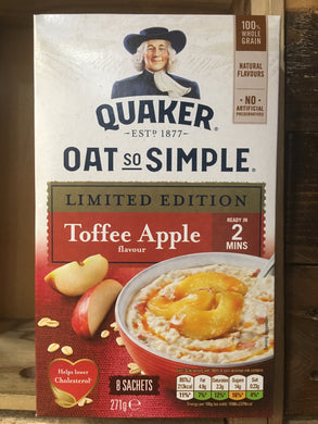 Quaker Oat So Simple Limited Edition Toffee Apple Porridge 8x34g