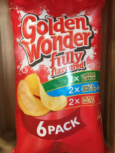 Golden Wonder Fully Flavoured 6 Pack (6x25g)