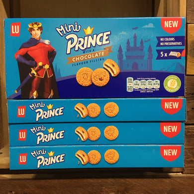 80x LU Mini Prince Chocolate Filled Biscuits (4 Boxes of 5x4 Biscuits)