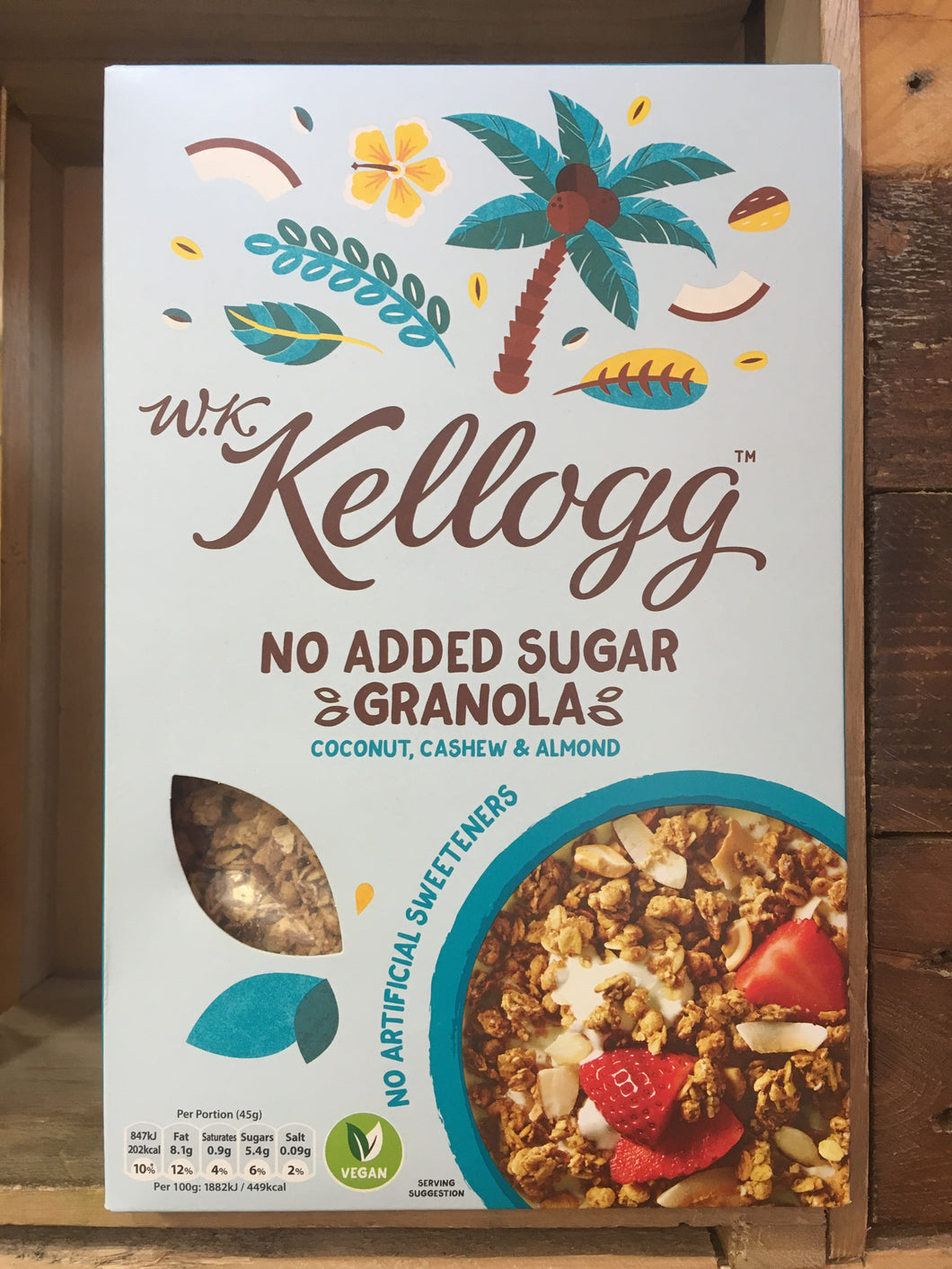 Kellogg No Added Sugar Granola with Coconut, Cashew & Almond 570g