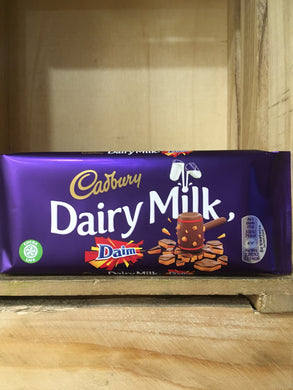 Cadbury Dairy Milk Daim Chocolate Bar 120g