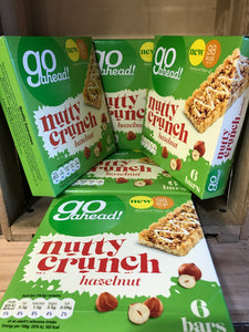 30x Go Ahead Nutty Crunch Hazelnut 19.5g Bars (6x5x19.5g)