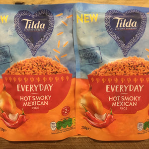 2x Tilda Hot Smoky Mexican Rice (2x250g)