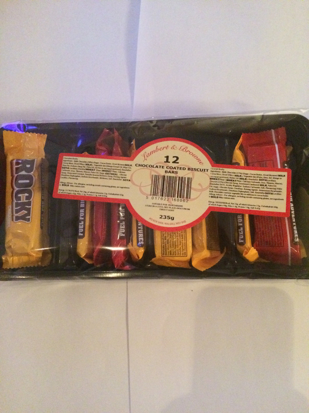 Rocky Chocolate and Caramel Biscuits 12 pack 235g