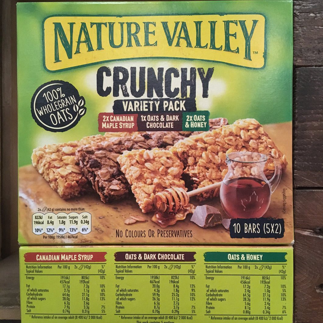 15x Nature Valley Crunchy Granola Variety Cereal Bars (3 Boxes of 5x42g)