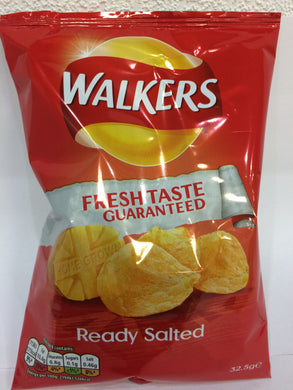32x Walkers Ready Salted Crisps Standard Packs (32x32.5g)