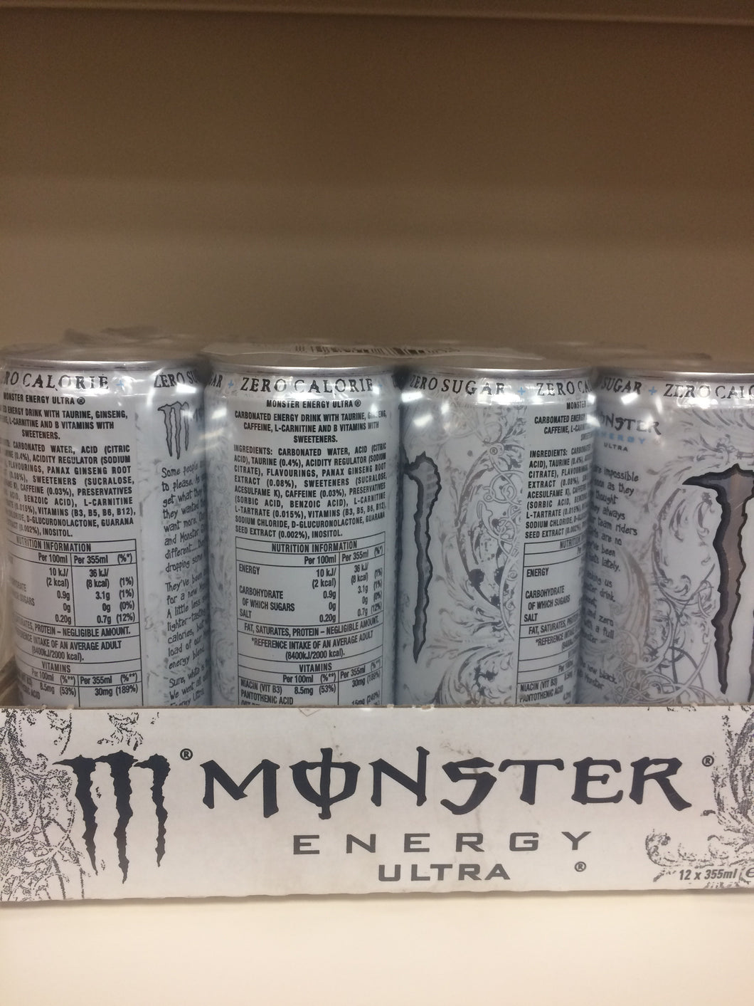 Monster Energy Ultra 12x 355ml Case