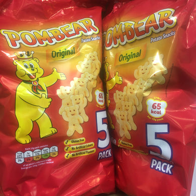 10x Pom Bear Original Crisps (2 Packs of 5x13g)