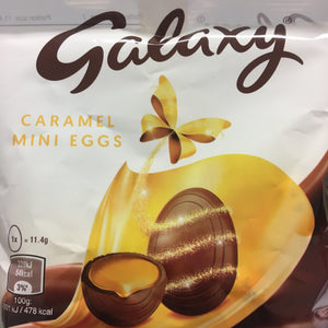 4x Galaxy mini caramel egg Bags (4x80g)