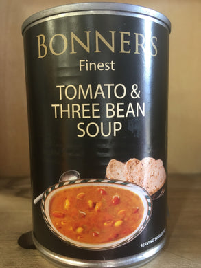 Bonners Finest Tomato & Three Bean Soup 400g