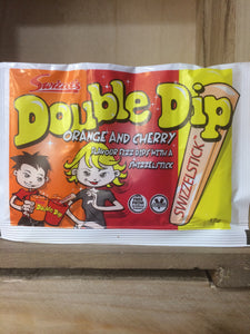 Swizzels Double Dip Orange & Cherry Fizz Dips With Swizzelstick 19g