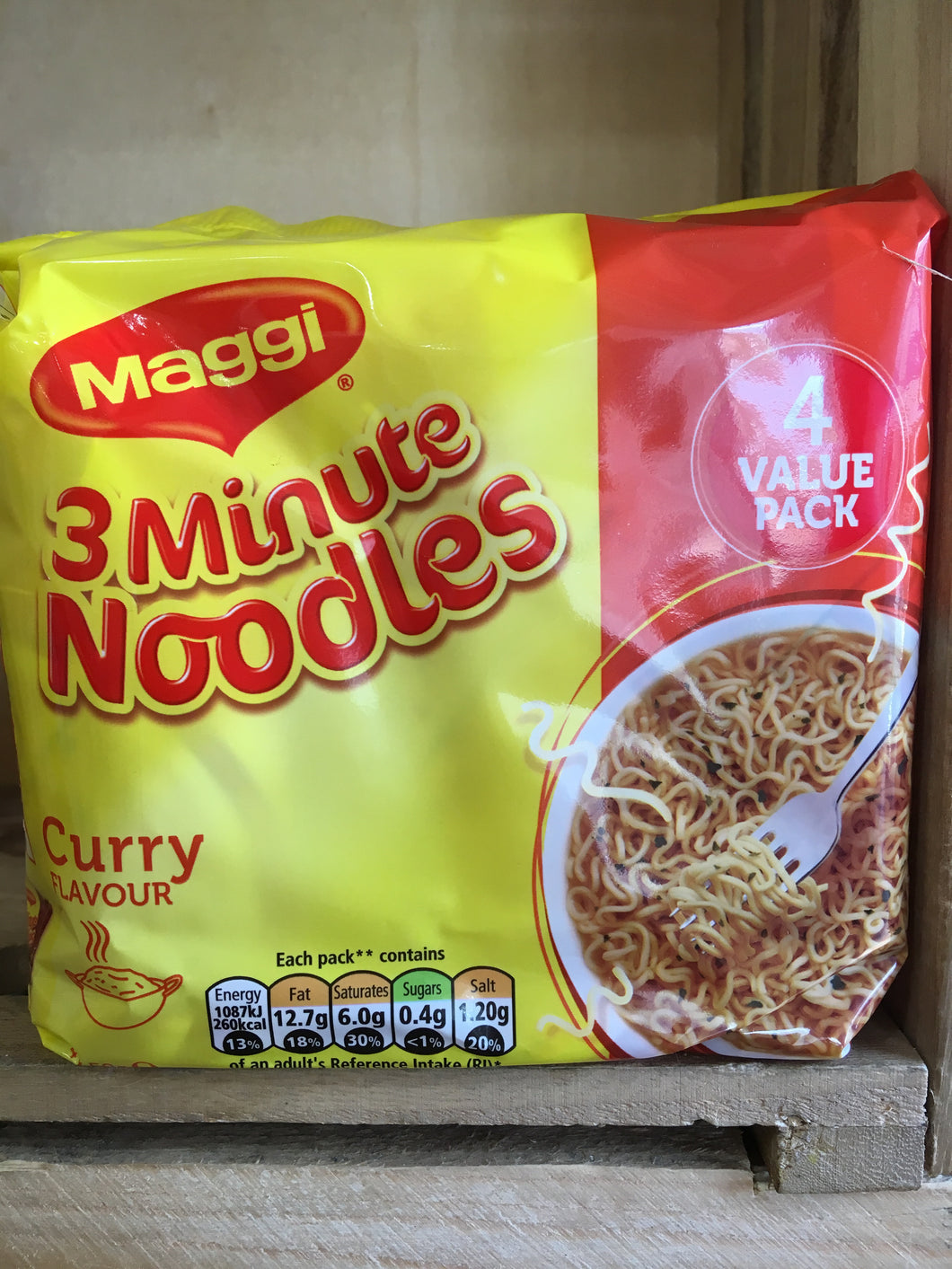 Maggi 3 Minute Noodles Curry Flavour 4 Pack (4x59g)
