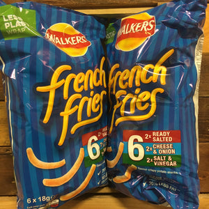 12x Walkers French Fries Variety Snacks (2 Packs of 6x18g)