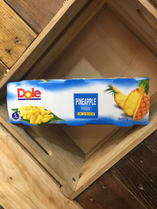 Dole Pineapple Pieces in Juice 3x Tins 227g (681g)
