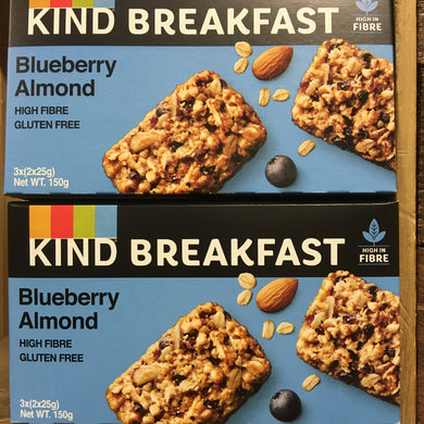 12x KIND Breakfast Blueberry Almond Breakfast Double Bars (4 Boxes of 3)