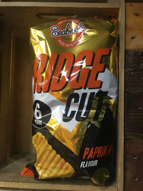 Seabrook Ridge Cut Paprika Crisps 6 Pack (6 x 25g)
